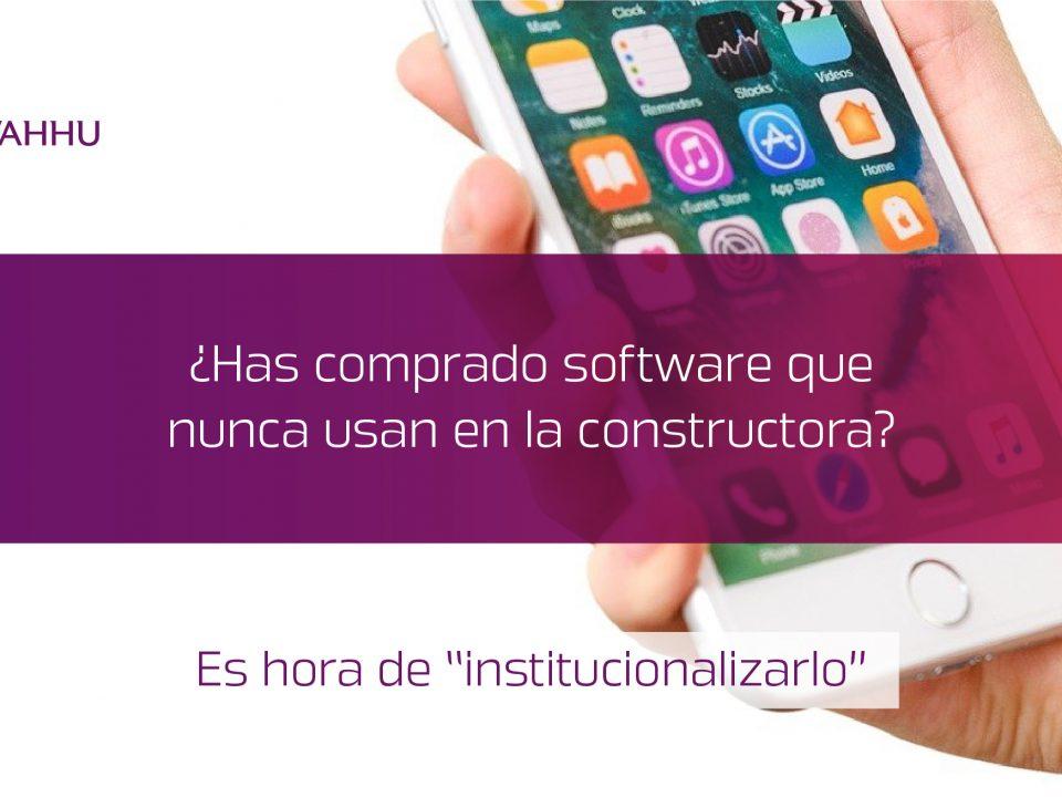 Institucionalizar software e construcción